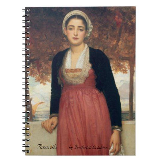 Amarilla  by Frederick Leighton Notebook