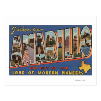 Amarillo, Texas - Large Letter Scenes Postcard