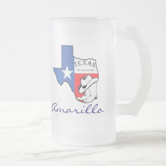 Amarillo Texas State Map with Star, Boots, Hat Mug