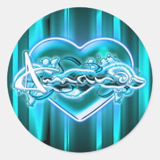 Amarinda Round Sticker