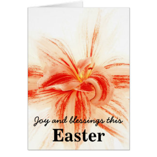 Amaryllis Flower Easter Card Joy and Blessings
