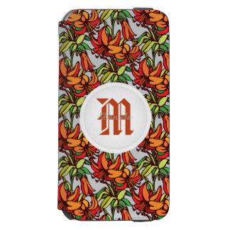 Amaryllis Orange Floral Blooms Incipio Watson™ iPhone 6 Wallet Case
