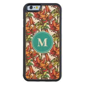 Amaryllis Orange Floral Blooms Maple iPhone 6 Bumper Case