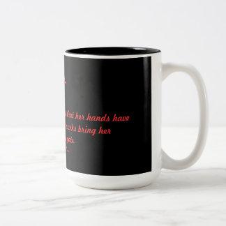 Amaryllis Proverbs 31:31 Two-Tone Mug