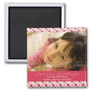 Amaryllis Stars :: Christmas Photo Magnet