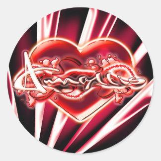 Amaryllis Round Sticker