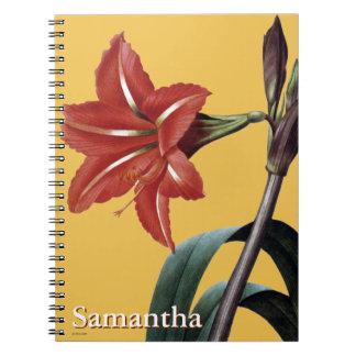 Amaryllis Striped Notebooks