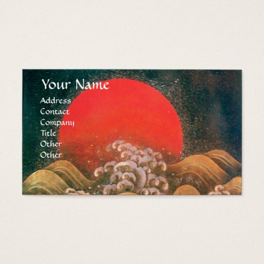 AMATERASU , SUN GODDESS ,red black brown Business Card