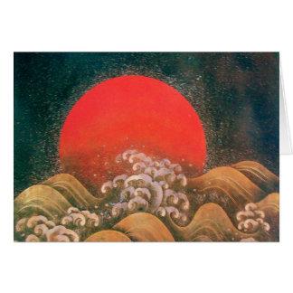 AMATERASU SUN GODDESS Red Yellow Black Brown Green Card