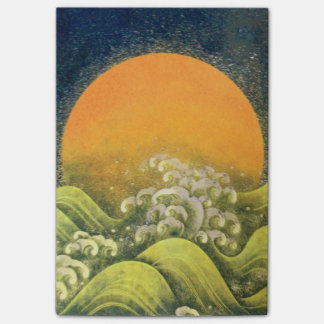 AMATERASU SUN GODDESS Yellow Black Brown Post-it Notes
