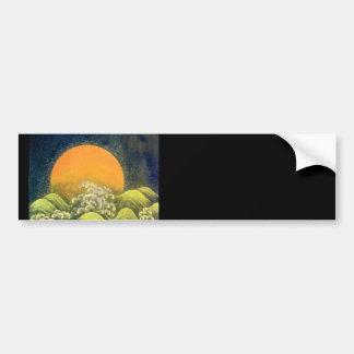 AMATERASU , SUN GODDESS , yellow green black Bumper Stickers