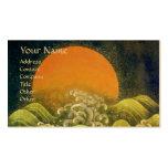 AMATERASU , SUN GODDESS ,yellow green black gold Business Card Templates