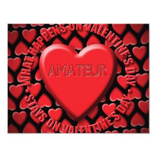 AMATEUR 11 CM X 14 CM INVITATION CARD