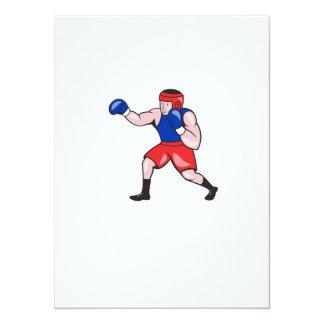Amateur Boxer Boxing Cartoon 14 Cm X 19 Cm Invitation Card