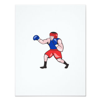 Amateur Boxer Boxing Cartoon Personalised Announcement