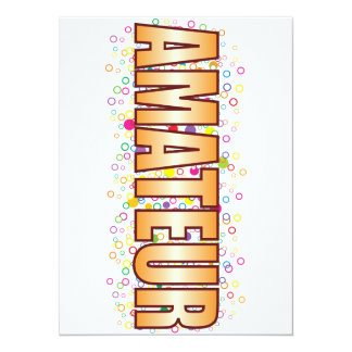 Amateur Bubble Tag 14 Cm X 19 Cm Invitation Card