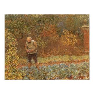 Amateur (Coachman & Cabbages) by Frederick Walker 11 Cm X 14 Cm Invitation Card