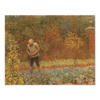 Amateur (Coachman & Cabbages) by Frederick Walker 4.25x5.5 Paper Invitation Card