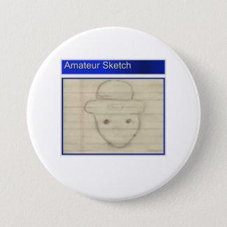 Amateur Leprechaun Sketch 7.5 Cm Round Badge