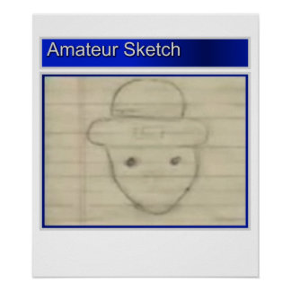 Amateur Leprechaun Sketch Poster