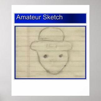 Amateur Leprechaun Sketch Poster