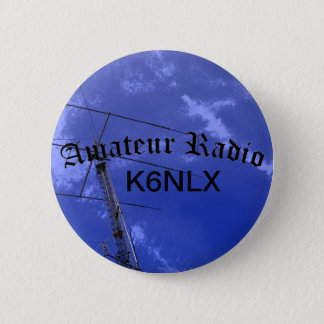 Amateur Radio and Call Sign 6 Cm Round Badge