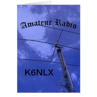 Amateur Radio and Call Sign Greeting Card