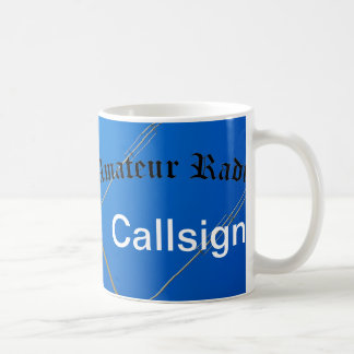 Amateur Radio and Call Sign Basic White Mug