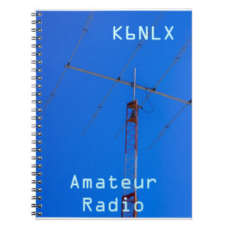 Amateur Radio Call Sign & Beam Spiral Notebook