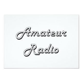 Amateur Radio Classic Retro Design 13 Cm X 18 Cm Invitation Card