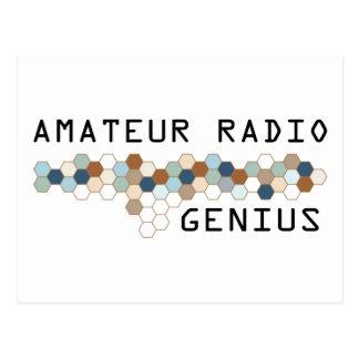 Amateur Radio Genius Postcard