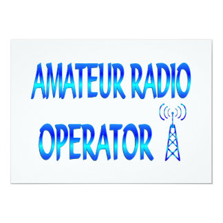 Amateur Radio Operator 13 Cm X 18 Cm Invitation Card