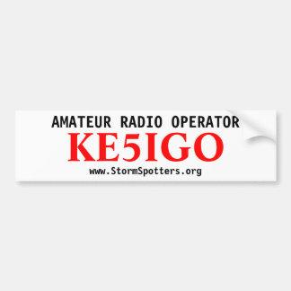 Amateur Radio Operator Bumper Sticker