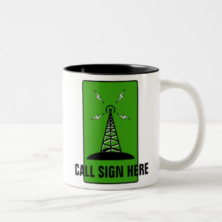 Amateur Radio Personalized Ham Call Sign Mug