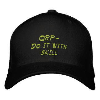 Amateur Radio QRP Skill Hat Embroidered Baseball Cap