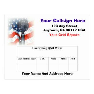 Amateur Radio QSL Card Postcard