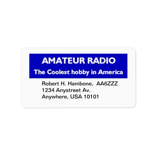 Amateur Radio Return Stickers