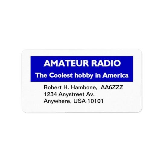Amateur Radio Return Stickers Address Label