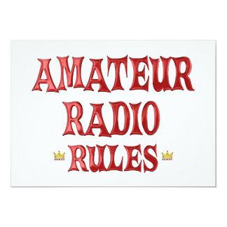 """Amateur Radio Rules 5"""" X 7"""" Invitation Card"""