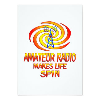 Amateur Radio Spins 13 Cm X 18 Cm Invitation Card