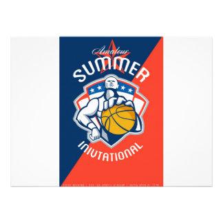 Amateur Summer Invitational Basketball Poster Custom Invitation