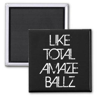 Amaze Ballz Square Magnet