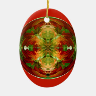 Amazed on red christmas ornament