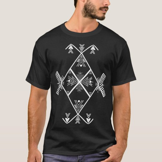 Amazigh Art White design T Shirt