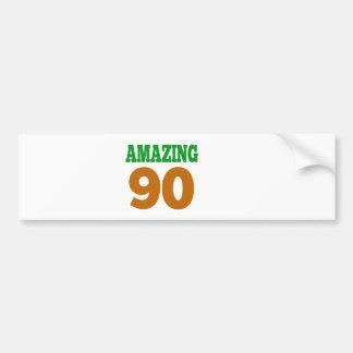 Amazing 90 bumper sticker