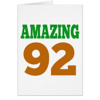 Amazing 92 greeting card