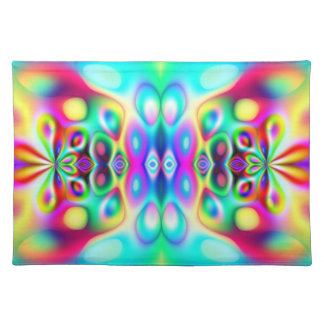 Amazing Abstract Colors Psychedelic Art Placemat