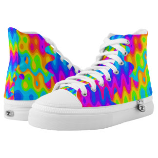 Amazing Acid Rainbow High Top Shoes