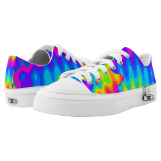 Amazing Acid Rainbow Low Top Shoes