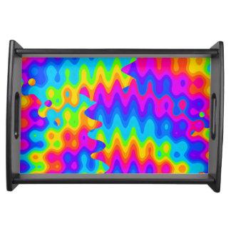 Amazing Acid Rainbow Serving Tray